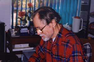 Piers Anthony at work